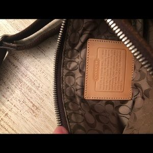 Coach mini suede cross body bag